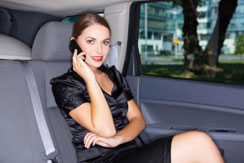 VIP business in limo